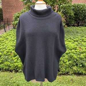 Prologue Black Sleeveless Poncho Sweater